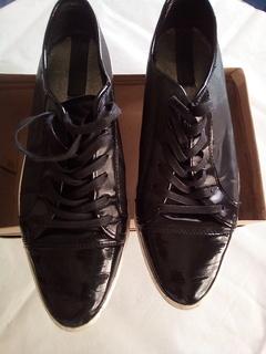 Черные кожаные кеды zara 43 размер