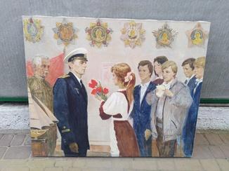 Картина Офицер-профессия героическая художник Лехолей