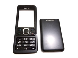 Корпус Nokia 6300 (панели) черный с клавиатурой