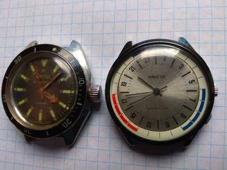 Часы Ракета, на ходу, часы Восток амфибия не рабочие, одним лотом
