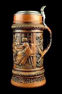 Коллекционная пивная кружка. Simon Peter Gerz. 1,5 литра. Германия. (0460)