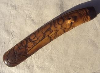 Чехол для трубки, рог оленя, Япония, 18-й - 19-й век.