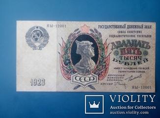 25 000 рублей 1923 г.