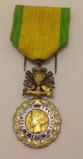 Французская Военная медаль тип-7. (Médaille militaire)