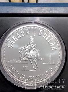1 Доллар 1975 Канада ,100 лет городу Калгари(Серебро)