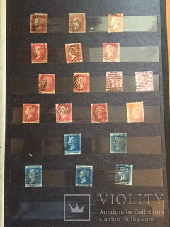 Марки Великобритании с 1840-х по 1887г. (190шт.)
