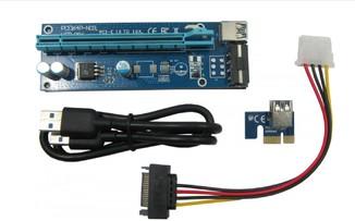 Райзер USB 3.0 PCI-E Express Riser 1X - 16X для видеокарт