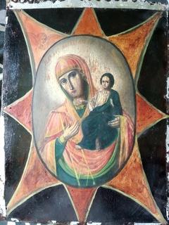 Ікона  (образ присвятої  богородиці неопалімой .купіни)
