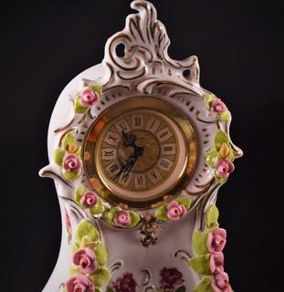 Часы настольные каминные Фарфор Дрезден Wilhelm Rittirsch Германия