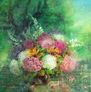 Картина «Букет в саду». Художник Ellen ORRO. Холст/акрил, 45.5х45.5, 2012 г.