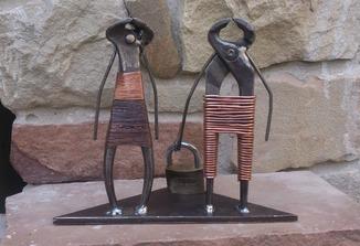 """Скульптура Пара- """"Подорож"""" Лофт Loft Індастріал"""