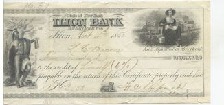 157 лет чеку США на 500$ New York Bank долларов  dollars USA / 1862 год