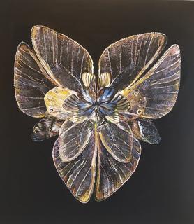 Бабочка,акрил на подрамнике,холст,2019,размер,60*60, Аксенов Константин