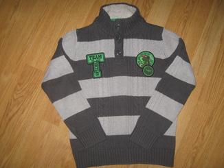 Котонновий вязаний свитер на 8-9 рочків C&A