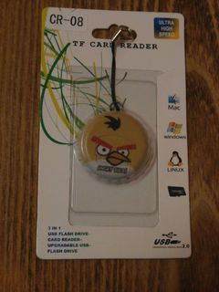 Переходник USB card reader micro SD Angry bird USB картридер