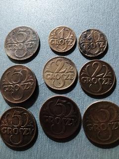 Монеты 1, 2 и 5 грошей
