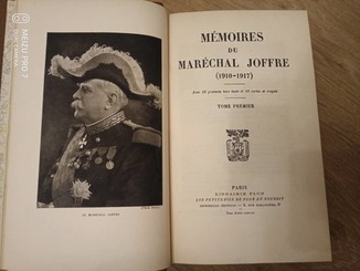 1934 Воспоминания Маршала Жоффре. Гравюры. Карты.