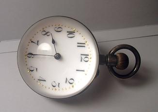 Часы сфера шар старинные серебро 800
