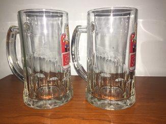 2 пивных бокала из рекламного выпуска Прима Оптима