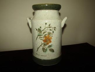 Большой Молочный бидон керамика ручная роспись Ботаника клеймо украшение интерьера