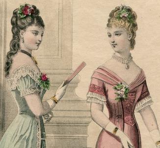 Моды Парижа. 1878г. 28х19см