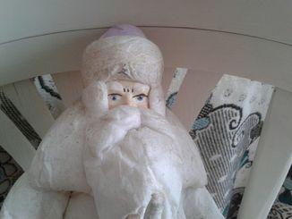 Дед мороз Папье-Маше 50-е.годы.ссср.