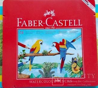 Набор - профи акварельных карандашей Faber Castell 24 цвета в металлической коробке