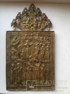 Икона бронзовая Покрова праздники