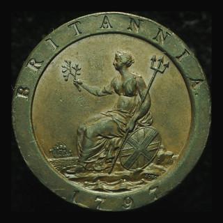 Великобритания пенни 1797 aUnc