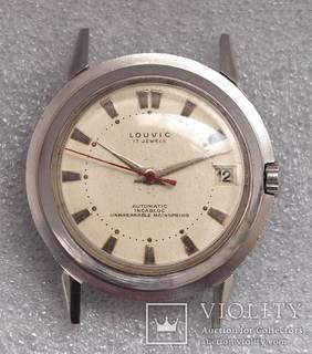 Часы Louvic Automatic, винтаж 1950е, Swiss Made