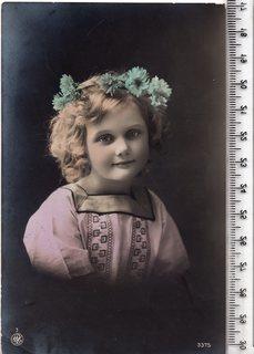 Старинная открытка. 1915 год. Фэнтези, дети.