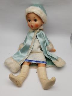 Снегурочка паричковая с клеймом, игрушка, Ленигрушка,СССР