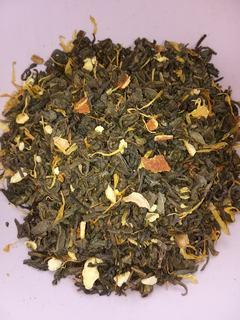 Чай зеленый с цедрой и лепестками календулы 50г