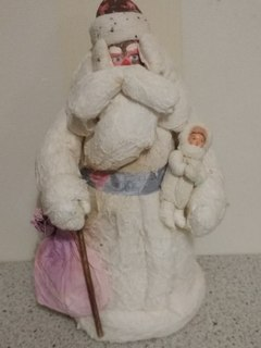 Дед Мороз со Снегурочкой папье-маше