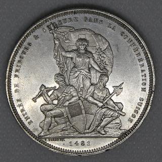 5 франков 1881 гг. Серебро. 25,08 г.