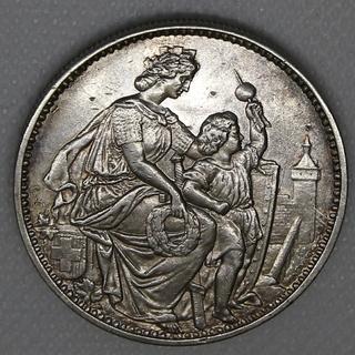 5 франков 1865 гг. Серебро. 25,07 г.