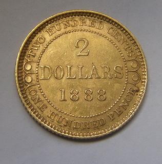 2 долара 1888 р. Ньюфаундлен