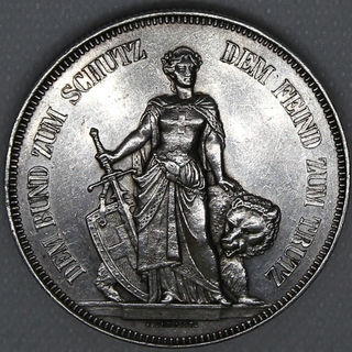 5 франков 1885 гг. Серебро. 25,00 г.