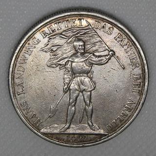 5 франков 1869 гг. Серебро. 25,04 г.