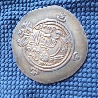 Сасаниды.драхма.34 год.Chosrau II