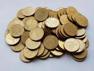 1 гривна Украины 1332 шт(Копилка).