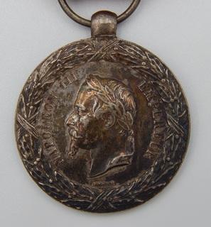 Фрация. Медаль Итальянской кампании 1859 г. Barre.