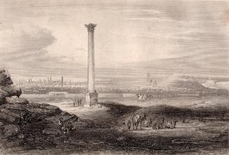 Старинная гравюра. 1860 годa. Александрия. (22,5х25см.).