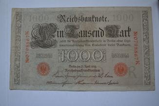 1000 немецких марок 1910-го года выпуска