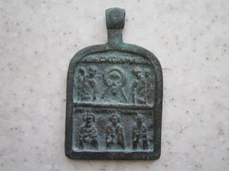 Икона: Поклонение образу Спаса. Избранные святые.
