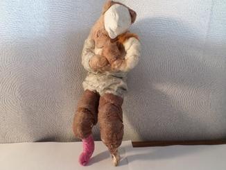 Елочная игрушка СССР медведь 1920 - 1930 гг