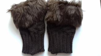 Трикотажні рукавички без пальців