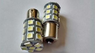 Светодиодные LED автолампочки 1156, P21W красные (2 шт)