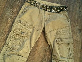 Cipo&Baxx - плотные походные штаны с ремнем