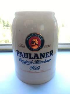 Кружка для пива PAULANER c градусником температуры 0,6 L